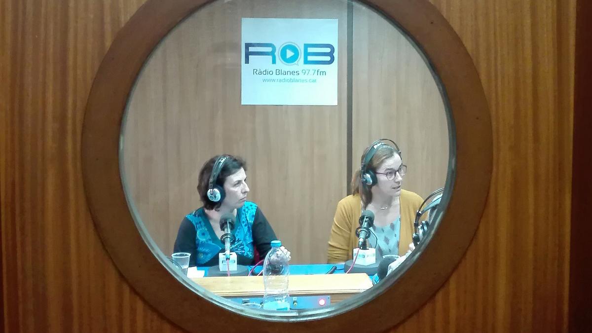 Gemma Agell i Teresa Alcoverro al web